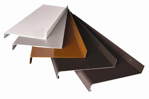 Parapet hliníkový ohýbaný, bronz, 380 mm